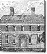 Nelson House In Yorktown Virginia II Of IIi Acrylic Print