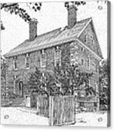 Nelson House In Yorktown Virginia IIi Of IIi Acrylic Print