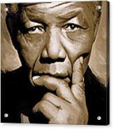 Nelson Mandela Artwork Acrylic Print