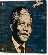 Nelson Mandela Man Of Peace Acrylic Print