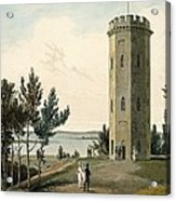 Nelsons Tower, Forres, From A Voyage Acrylic Print