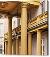 Neo Classical Columns Acrylic Print by Barbara McMahon