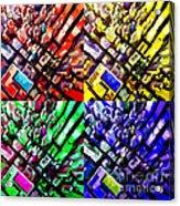 Neo Pop Art Urbanscape New York Sky View Acrylic Print