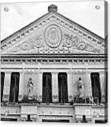 Neoclassical Storehouse Facade Yaxcopoil Mexico Acrylic Print