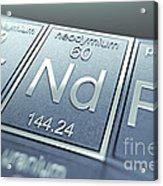 Neodymium Chemical Element Acrylic Print