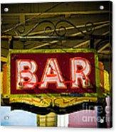 Neon Bar Acrylic Print