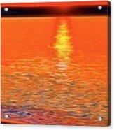 Neon Beach Sunset Acrylic Print