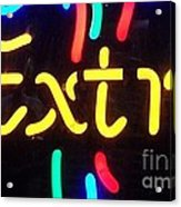 Neon Beer Sign - Extra Acrylic Print