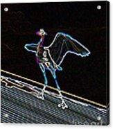 Neon Blue Heron Acrylic Print