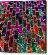 Neon Brick Acrylic Print