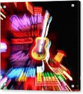 Neon Burst In Downtown Nashville Acrylic Print by Dan Sproul