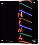 Neon Cinema Acrylic Print