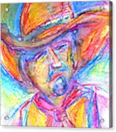 Neon Cowboy Acrylic Print