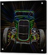 Neon Deuce Coupe Acrylic Print
