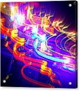 Neon Explosion Acrylic Print