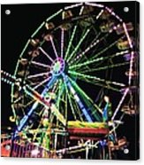 Neon Ferris Wheel Acrylic Print