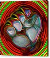 Neon Fist Acrylic Print