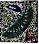 Neon Fruit Acrylic Print by Bennett Berkowitz