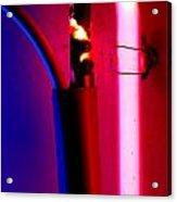 Neon Glow Acrylic Print