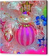 Neon Holiday Tree Acrylic Print