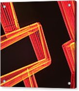 Neon Maze Acrylic Print