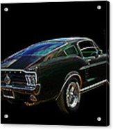 Neon Mustang Fastback 1967 Acrylic Print
