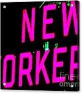Neon New Yorker Acrylic Print