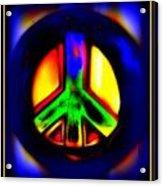 Neon Peace Acrylic Print