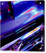 Neon Reflections - Ford V8 Pickup Truck -1044c Acrylic Print