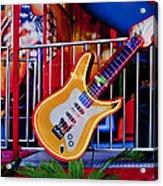 Neon Rock N Roll Acrylic Print