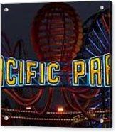 Neon Sign At Pacific Park At Santa Monica Acrylic Print