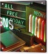 Neon Sign Acrylic Print