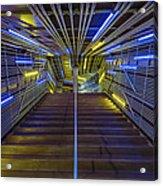 Neon Steps Acrylic Print by Akos Kozari
