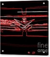 Neon Truck Grill Acrylic Print