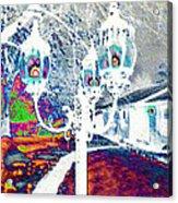 Neon Winter Night Acrylic Print
