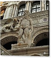 Neptune And The Lion Atop The Giants Staircase Acrylic Print