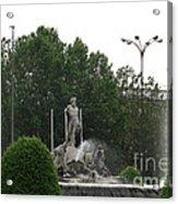 Neptune Fountain In Madrid Acrylic Print
