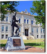 Ness County Courthouse In Kansas Acrylic Print