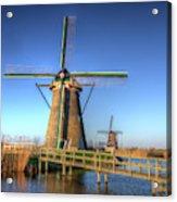 Netherlands, Kinderdijk, Sunrise Acrylic Print