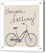 Neutral Glam Bike Acrylic Print