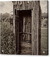 Nevada City Ghost Town Outhouse - Montana Acrylic Print