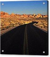 Nevada. Desert Road Acrylic Print