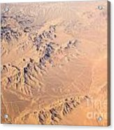Nevada Mountains Aerial View Acrylic Print