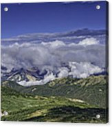 Never Summer Mtns In Clouds Acrylic Print by Tom Wilbert