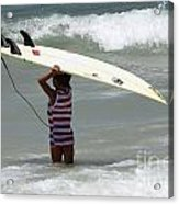 Never Too Little Never Too Big To Surf Acrylic Print