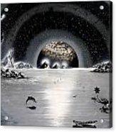 New Age Moonset Acrylic Print