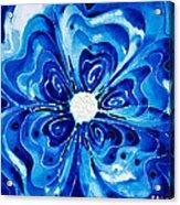 New Blue Glory Flower Art - Buy Prints Acrylic Print