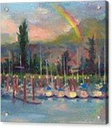 New Covenant - Rainbow Over Marina Acrylic Print