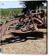 New Crop Antiquated Grader Acrylic Print