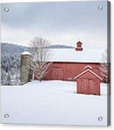 New England Barns Acrylic Print